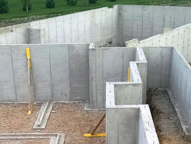 Poured Concrete Foundation Walls for a House